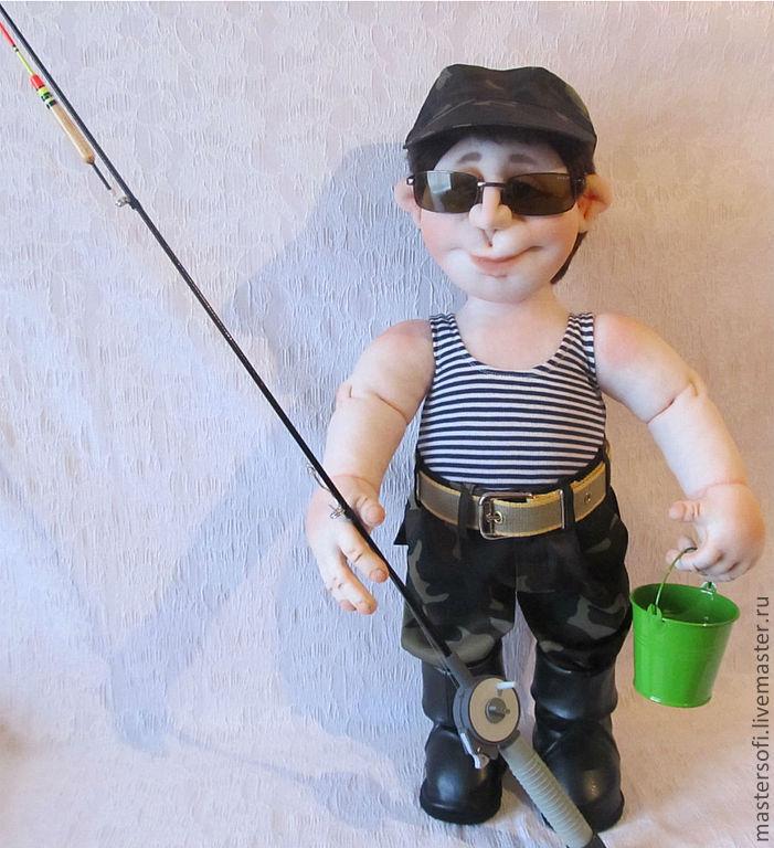 Как сделать куклу рыбака из колготок