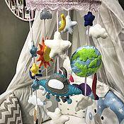 Мобили на кроватку ручной работы. Ярмарка Мастеров - ручная работа Мобиль на кроватку: «Космический». Handmade.