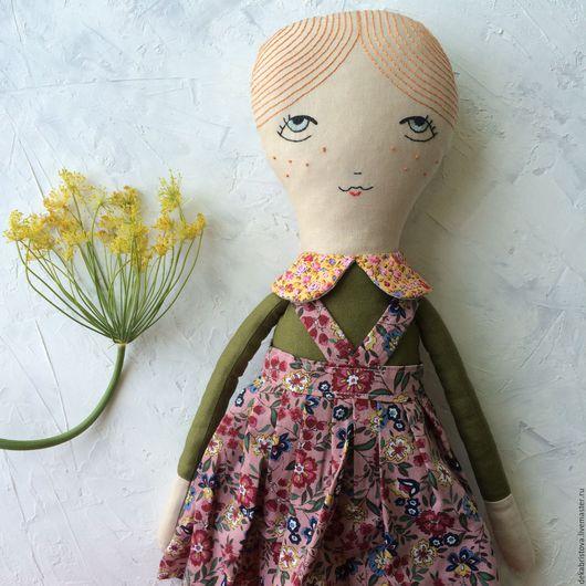 Народные куклы ручной работы. Ярмарка Мастеров - ручная работа. Купить Текстильная кукла Тыковка. Handmade. Оранжевый, игрушка