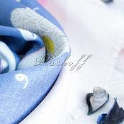 Аксессуары handmade. Livemaster - original item Blue scarf based on Louis Vuitton