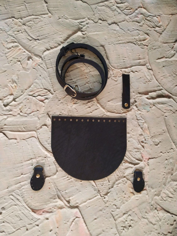 Вязание ручной работы. Ярмарка Мастеров - ручная работа. Купить Крышка для сумки натуральная кожа. Handmade. Коричневый
