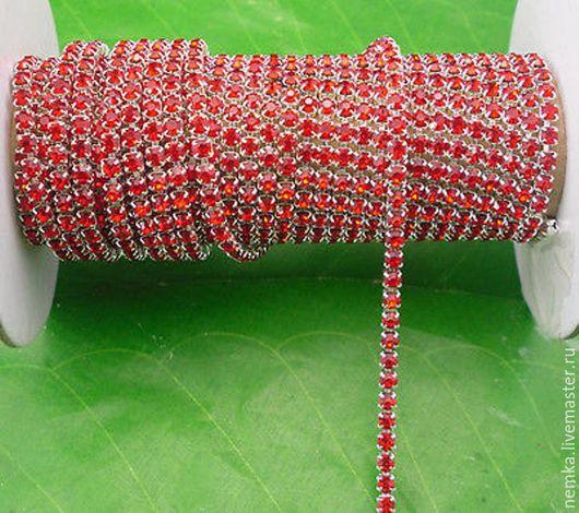 Для украшений ручной работы. Ярмарка Мастеров - ручная работа. Купить Остаток!Густая стразовая лента- 3 мм. Handmade.
