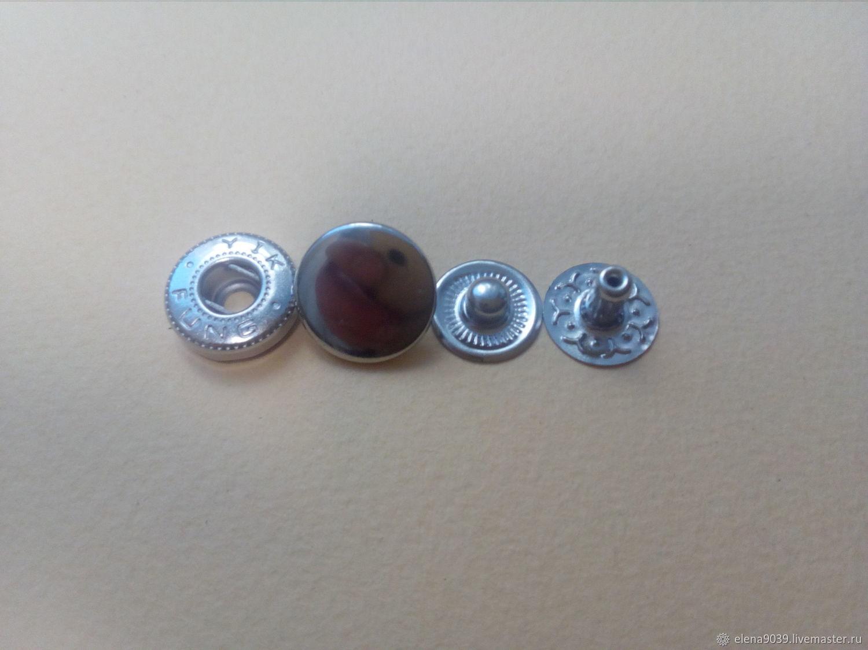 Кнопка на 12,5мм.металл никель ЛКН-125н/011 Китай, Кнопки, Москва,  Фото №1