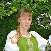Русский стиль handmade. Livemaster - original item Russian, Slavic linen dress