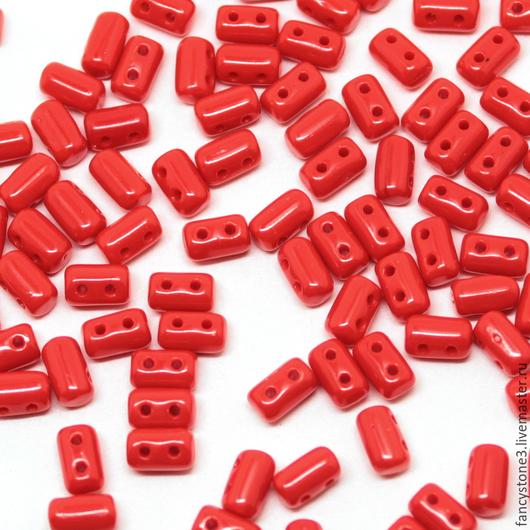 Для украшений ручной работы. Ярмарка Мастеров - ручная работа. Купить Чешские бусины Rulla, Красные, Рулла Чехия, 5гр. Handmade.