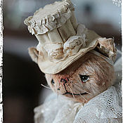 Куклы и игрушки ручной работы. Ярмарка Мастеров - ручная работа Мона и шляпная коробка.. Handmade.