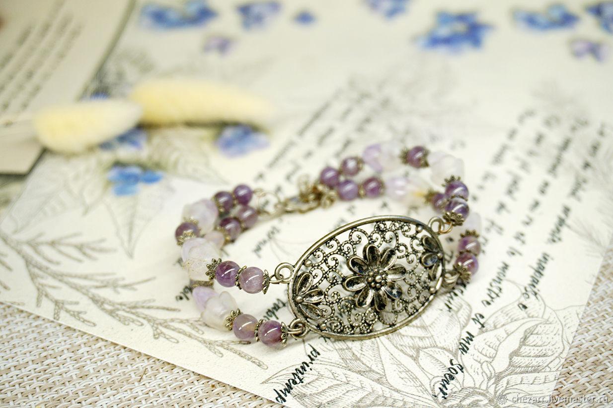 Amethyst bracelet, Bead bracelet, Chelyabinsk,  Фото №1