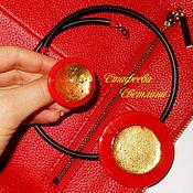 """Украшения ручной работы. Ярмарка Мастеров - ручная работа """"Red Gold"""" комплект украшений из стекла и золота. Handmade."""