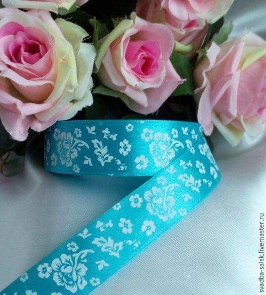 Шитье ручной работы. Ярмарка Мастеров - ручная работа. Купить Лента атласная цветы (25 мм). Handmade. Атласная лента