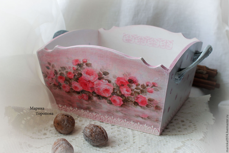 The candy dish, bowl ,plate' Shabby - Marshmallow roses', Utensils, Krasnoyarsk,  Фото №1