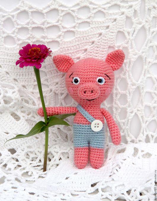 Игрушки животные, ручной работы. Ярмарка Мастеров - ручная работа. Купить Кукла Поросёнок Хрюня (вязаная игрушка). Handmade. Розовый