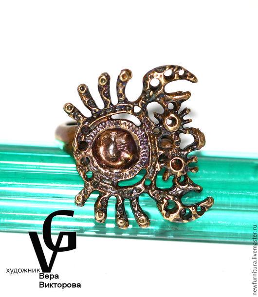 Для украшений ручной работы. Ярмарка Мастеров - ручная работа. Купить Краб-кольцо - коллекция STRANGE ANIMAL. Handmade. Латунь
