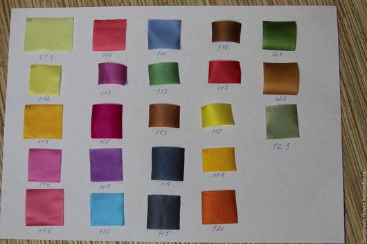 Краска разбавлена горячей водой  и нанесена на японскую ткань - шелковый креп-сатин
