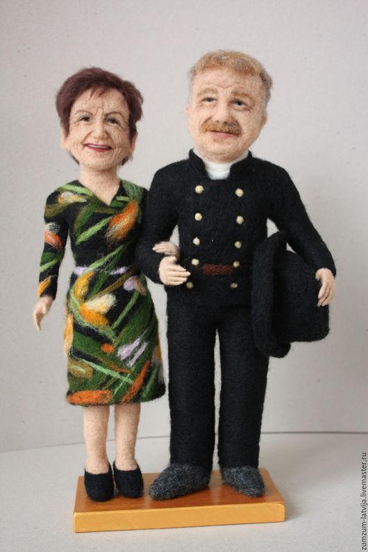 Портретные куклы ручной работы. Ярмарка Мастеров - ручная работа. Купить Портретные куклы Трубочист и его дама. Handmade. Черный