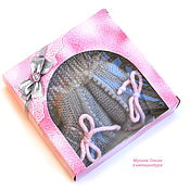 Работы для детей, handmade. Livemaster - original item Bonnet and booties for the baby
