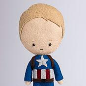 Куклы и игрушки ручной работы. Ярмарка Мастеров - ручная работа Капитан Америка (Стив Роджерс) - кукла по мотивам фильма Мстители. Handmade.