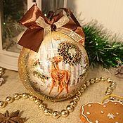 Сувениры и подарки handmade. Livemaster - original item Bambi Christmas ball. Handmade.