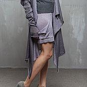 Одежда handmade. Livemaster - original item GGA_024 Shorts with pockets, color gray-purple. Handmade.