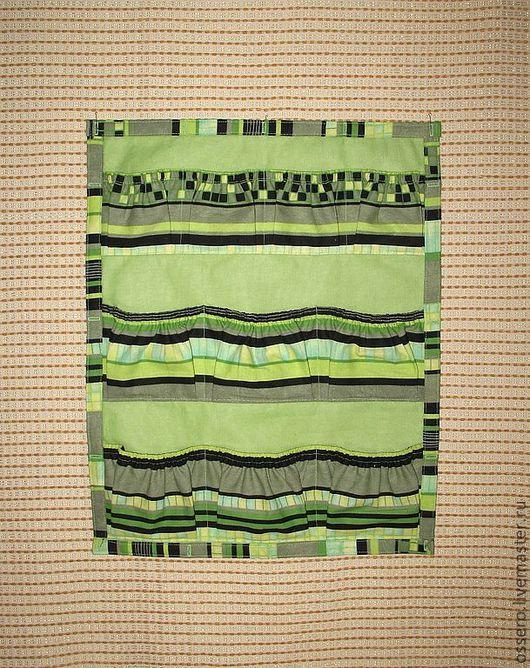 Детская ручной работы. Ярмарка Мастеров - ручная работа. Купить Настенные карманы. Handmade. Зеленый, настенные кармашки, кармашки для мелочей