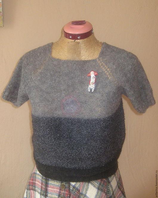 """Кофты и свитера ручной работы. Ярмарка Мастеров - ручная работа. Купить Джемпер"""" Графит"""". Handmade. Серый, графит"""