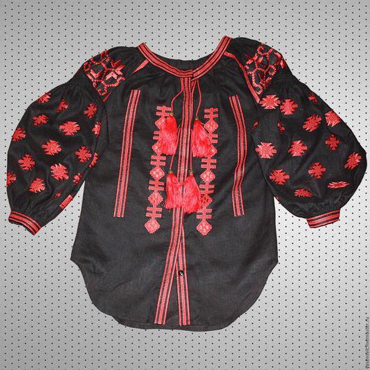 Большие размеры ручной работы. Ярмарка Мастеров - ручная работа. Купить Вышитая блузка рубашка Размер - XS - XXXL. Handmade.