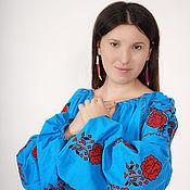 Одежда ручной работы. Ярмарка Мастеров - ручная работа Туника женская вышитая  бохо, этно стиль  Vita Kin,Bohemia. Handmade.