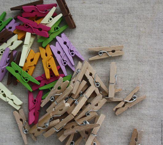 Куклы и игрушки ручной работы. Ярмарка Мастеров - ручная работа. Купить Прищепки мини. Handmade. Сиреневый, прищепка, прищепки декоративные