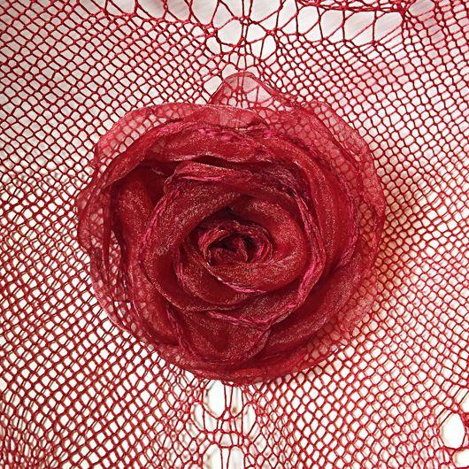 """Броши ручной работы. Ярмарка Мастеров - ручная работа. Купить Роза """"Риоха» (Rose """"Rioha""""). Handmade. Ярко-красный"""