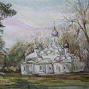 Картины и панно ручной работы. Ярмарка Мастеров - ручная работа Акварель ,,Церковь,,. Handmade.