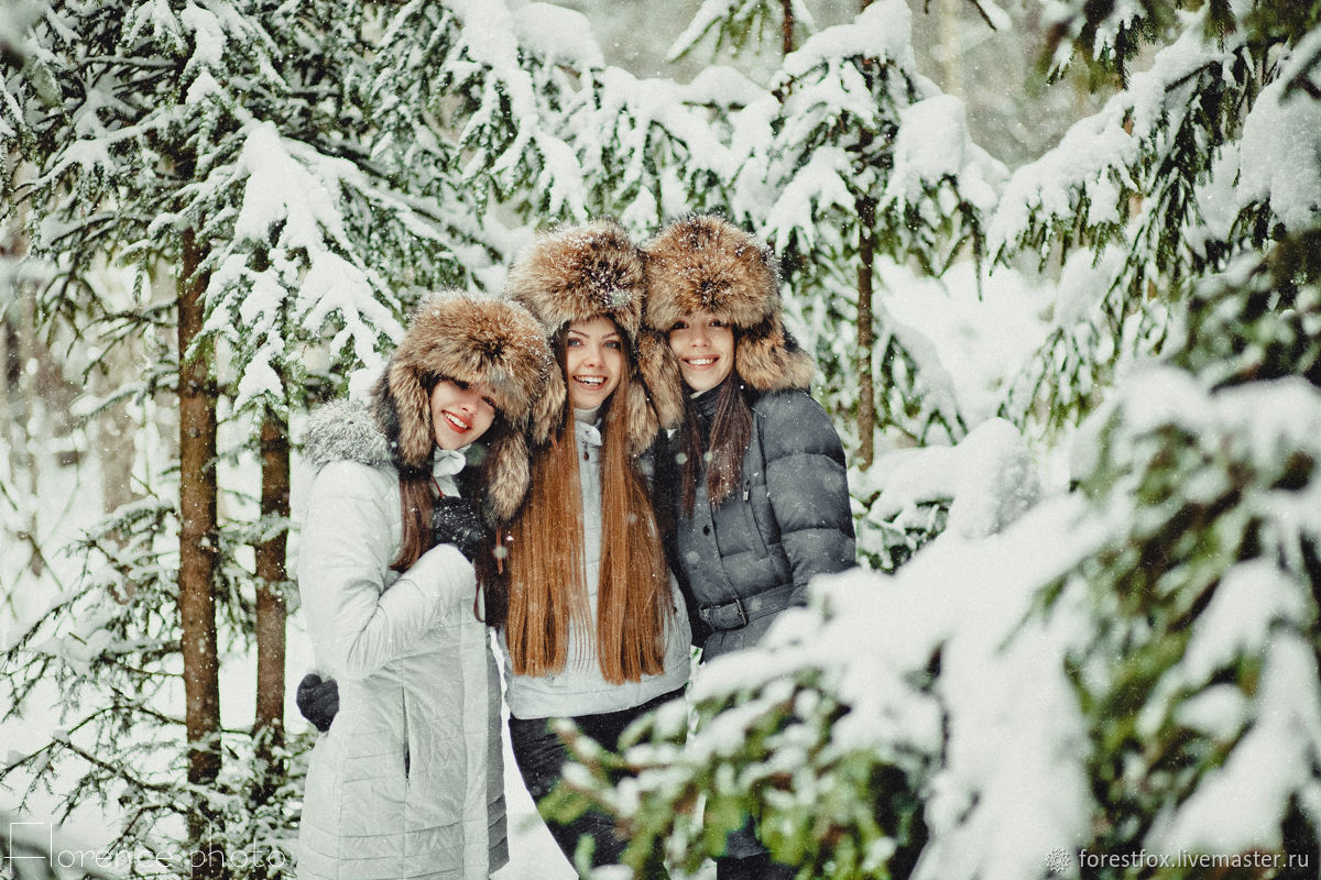 """Real fur hat """"Russian style"""" / Real fox fur hat, Hat with ear flaps, Moscow,  Фото №1"""