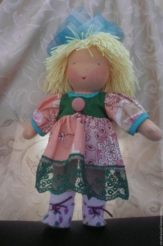 Вальдорфская игрушка ручной работы. Ярмарка Мастеров - ручная работа. Купить Шитая кукла Катюша. Handmade. Вальдорфская кукла, трикотаж