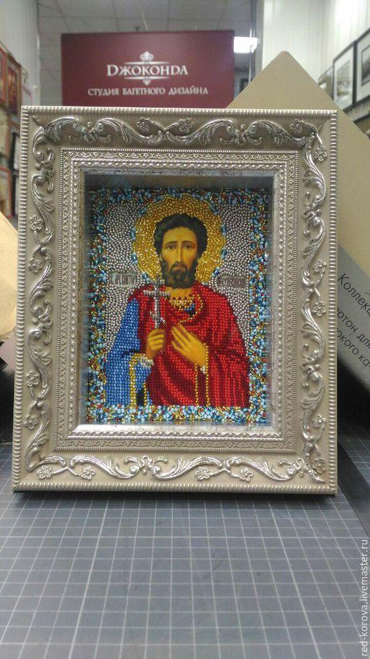 Иконы ручной работы. Ярмарка Мастеров - ручная работа. Купить Святой Виктор. Handmade. Комбинированный, икона в подарок
