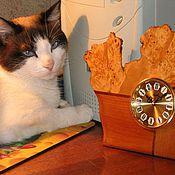 """Для дома и интерьера ручной работы. Ярмарка Мастеров - ручная работа Часы """" Кошка"""". Handmade."""