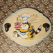 """Для дома и интерьера ручной работы. Ярмарка Мастеров - ручная работа Вешалки-панно на кухню """"Приятного аппетита"""", 3 шт. Handmade."""