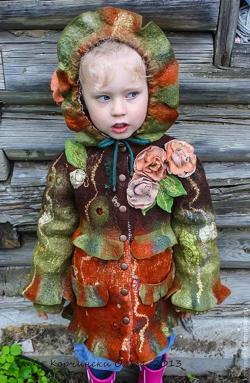 Одежда для девочек, ручной работы. Ярмарка Мастеров - ручная работа. Купить Пальто детское валяное. Handmade. Пальто валяное