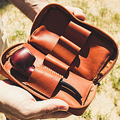 Сумки и аксессуары handmade. Livemaster - original item Bag, pouch for Smoking pipes, tobacco, brushes. Handmade.