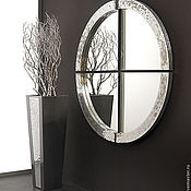 Для дома и интерьера handmade. Livemaster - original item Mirror in mosaic frame is divided into segments. Handmade.