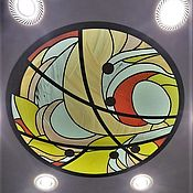 Для дома и интерьера handmade. Livemaster - original item Ceiling, stained glass Abstraction. Film stained glass in the frame and illuminated. Handmade.