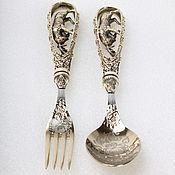 Посуда handmade. Livemaster - original item Hunting spoon fork casting