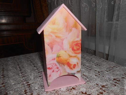 """Кухня ручной работы. Ярмарка Мастеров - ручная работа. Купить Чайный домик """"Нежность"""". Handmade. Розовый, домик для чая"""