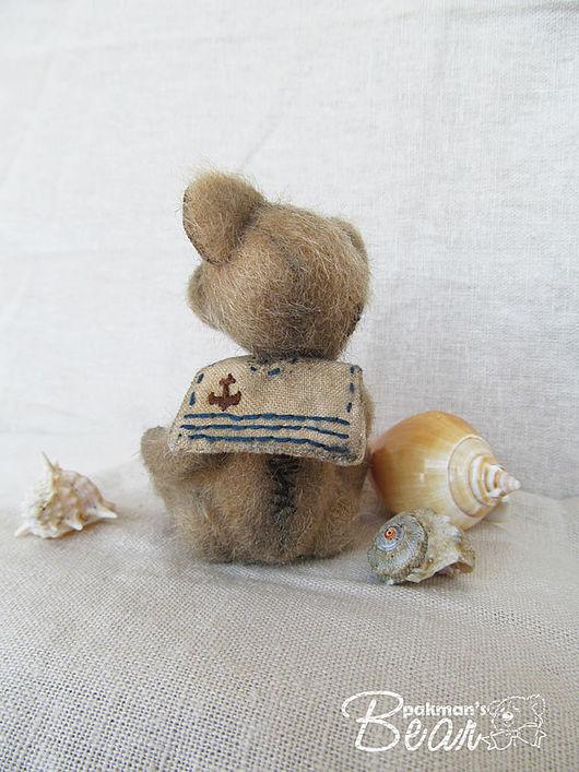 """Мишки Тедди ручной работы. Ярмарка Мастеров - ручная работа. Купить """"Скучающий о море""""мини-мишка. Handmade. Море, мини мишки"""