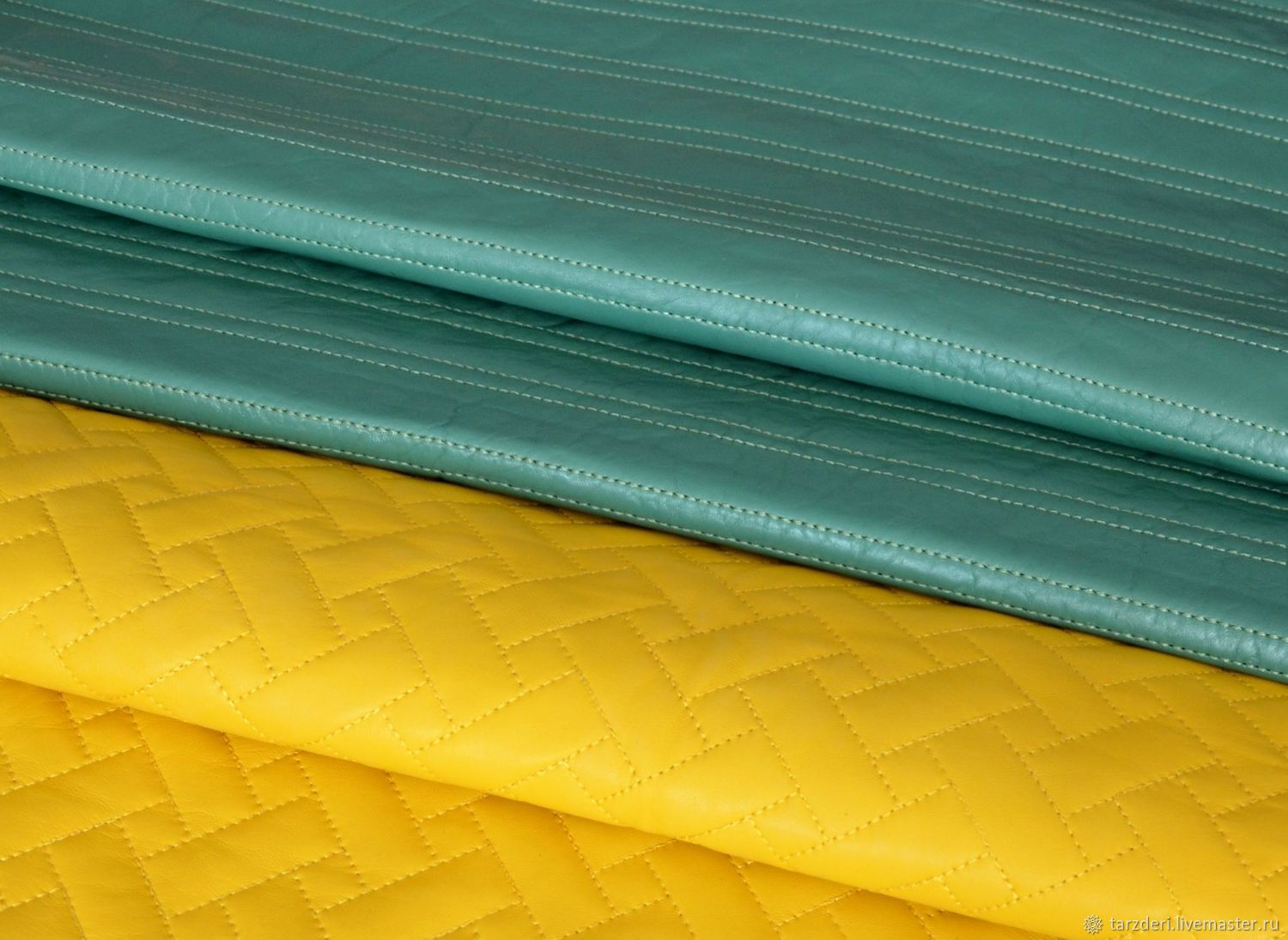 Genuine leather Green quilted, Leather, Ankara,  Фото №1