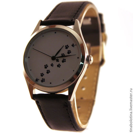 Часы ручной работы. Ярмарка Мастеров - ручная работа. Купить Дизайнерские наручные часы Следы. Handmade. Прикольный подарок