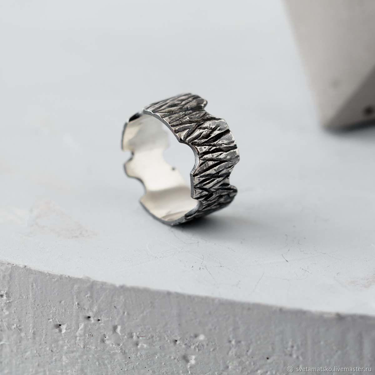 """Кольца ручной работы. Ярмарка Мастеров - ручная работа. Купить Кольцо из серебра """"Кора"""", кольцо серебро унисекс, кольцо мужское. Handmade."""