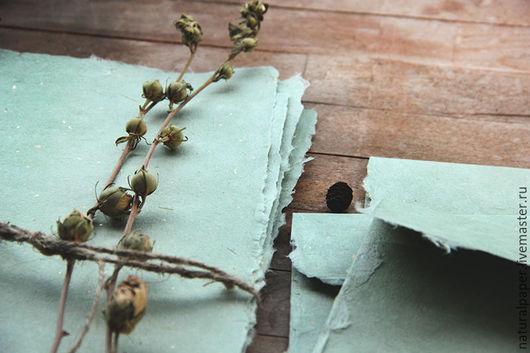 """Письменные приборы ручной работы. Ярмарка Мастеров - ручная работа. Купить """"Silky mint"""" - конверты и бумага ручной работы. Handmade."""