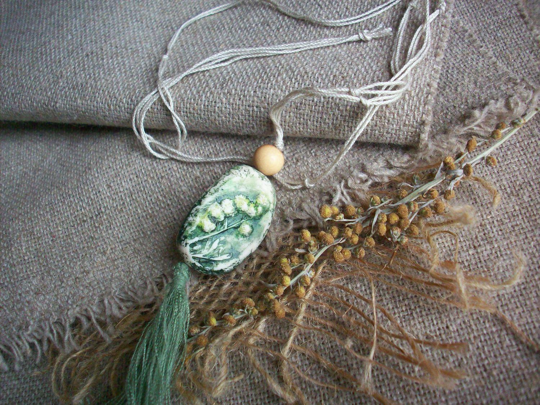 Кулоны, подвески ручной работы. Ярмарка Мастеров - ручная работа. Купить Полынь- трава Кулон Слепок настоящего растения. Handmade.