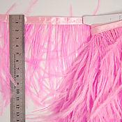 Материалы для творчества handmade. Livemaster - original item Trim of ostrich feathers 10-15 cm pink. Handmade.