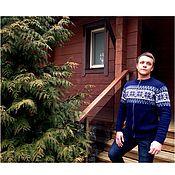 Одежда handmade. Livemaster - original item Jacket knit with a Norwegian ornament, zippered. Handmade.