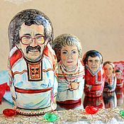Подарки к праздникам handmade. Livemaster - original item Nesting dolls with portraits of the 5 seats. Handmade.