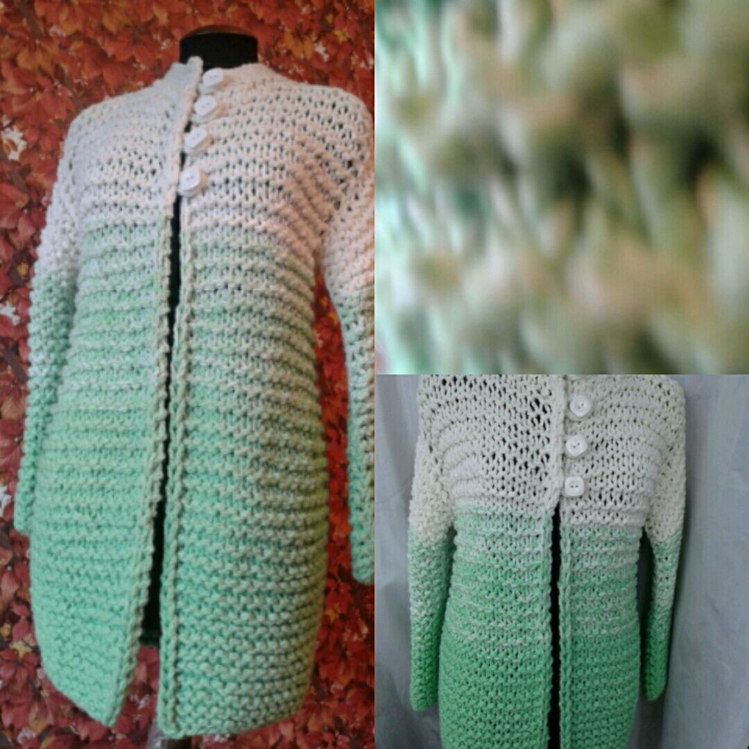 Cold? Buy cardigan thick yarn Apple color gradient, Cardigans, St. Petersburg,  Фото №1